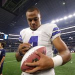 .@dallascowboys QB @15_DakP signs the #SNF Player of the Game ball for the first time. #CHIVSDAL #YouLikeDak https://t.co/IzaoQve3fD