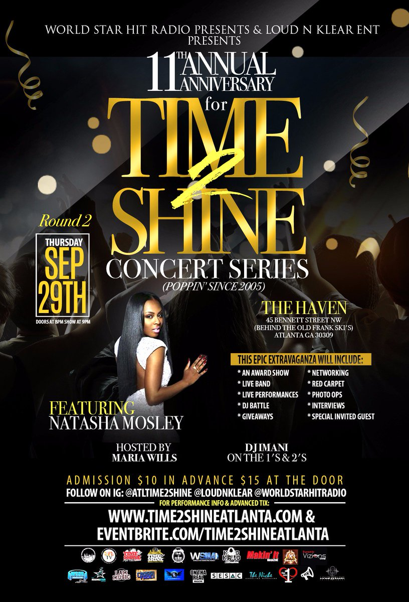09/29 #Atl Event Lyfe @ATLTIME2SHINE Concert Series feat. @NatashaMosley https://t.co/ce8pb72I4L via @DiamondKesawn https://t.co/eIX39EGsjG