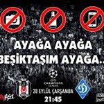 Beşiktaş - Dynamo Kiev Çarşamba 21.45 Alkol yok, Fotoğraf yok, Video yok, 90 dakika sadece destek. Beşiktaşım ayağa! https://t.co/1CN2vigNbt