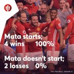 Mata must start! #MUFC https://t.co/J2c9BRBjFP