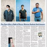 No es la primera plana de @nytimes pero con lugar prominente en el periódico #Ayotzinapa https://t.co/vU0hOfKWWz