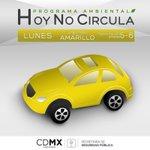 #HoyNoCirculan los vehículos con engomado amarillo, terminación de placas 5 y 6, hologramas 1 y 2. #FelizLunes https://t.co/EMBYrQyg4J