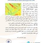 #ارصاد_قطر: تقرير عن حالة الطقس، حيث تنشط الرياح الشمالية الغربية مُجدداً من يوم الخميس القادم بإذن الله. #قطر https://t.co/JPLckvvIaP