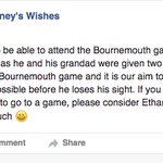 If youre unable to go to an #afcb game for any reason, please please consider donating your ticket to Ethan Burney https://t.co/5zDOBqCBWD