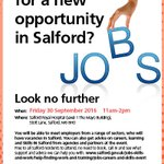 Meet employers from a range of sectors at Salford Royal Hospital this Friday, who will have job vacancies in Salford https://t.co/nwc25TlsBM https://t.co/KOSZSppDOr