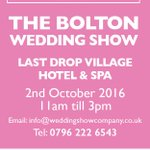 Join us this weekend for the Bolton wedding Show @boltonhospice @weddingshowco #bridetobe #weddings #charity #Bolton https://t.co/3G2D8iWQDK