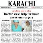 #SaveSardar- #Karachi #doctor seeks govt's help for #brain #aneurysm #surgery https://t.co/v7LY4cIcRG - I Report https://t.co/ni3FfOl5NG