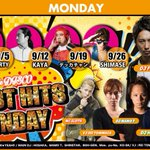 9/26 BEST HITS MONDAY 22:00open @DJSHIMASE @djfumiyeah @DJ_HOSAKA @DJ_MAMORU @djshinstar @VJ_REi @slothtokyo https://t.co/pPRqCjS4hR