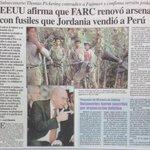 Se logró establecer que armas que acabaron en manos de las FARC fueron las que Jordania vendió al Gobierno Peruano https://t.co/3NPbLJbad5