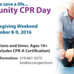 Join us for our Fall Community CPR days and learn how to save someones life! #ldnont #cpr #communitycprday https://t.co/g635d6UcP7