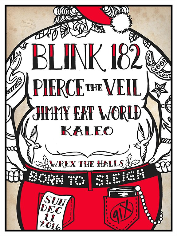 Or were you nice? @blink182 @piercetheveil @jimmyeatworld @officialkaleo #WrextheHalls #91X #nice https://t.co/1fa8M3Hxsm