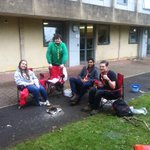 @bathbugs have a fire outside Westwood with marshmallows for campus challenge @BathFW16 https://t.co/ndwAN8Litv