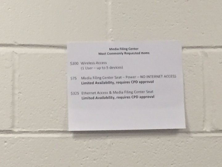 Dear god. @RyanBeckler just sent me this from Hofstra. They're charging $200 for media WiFi access. https://t.co/VSagT6ZerF
