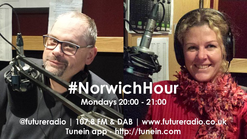 Talk, Tunes & Requests tonight with @RichardMaun & @HubFizz Listen: online, tunein app 107.8FM & DAB #NorwichHour https://t.co/WLvCCQFciQ