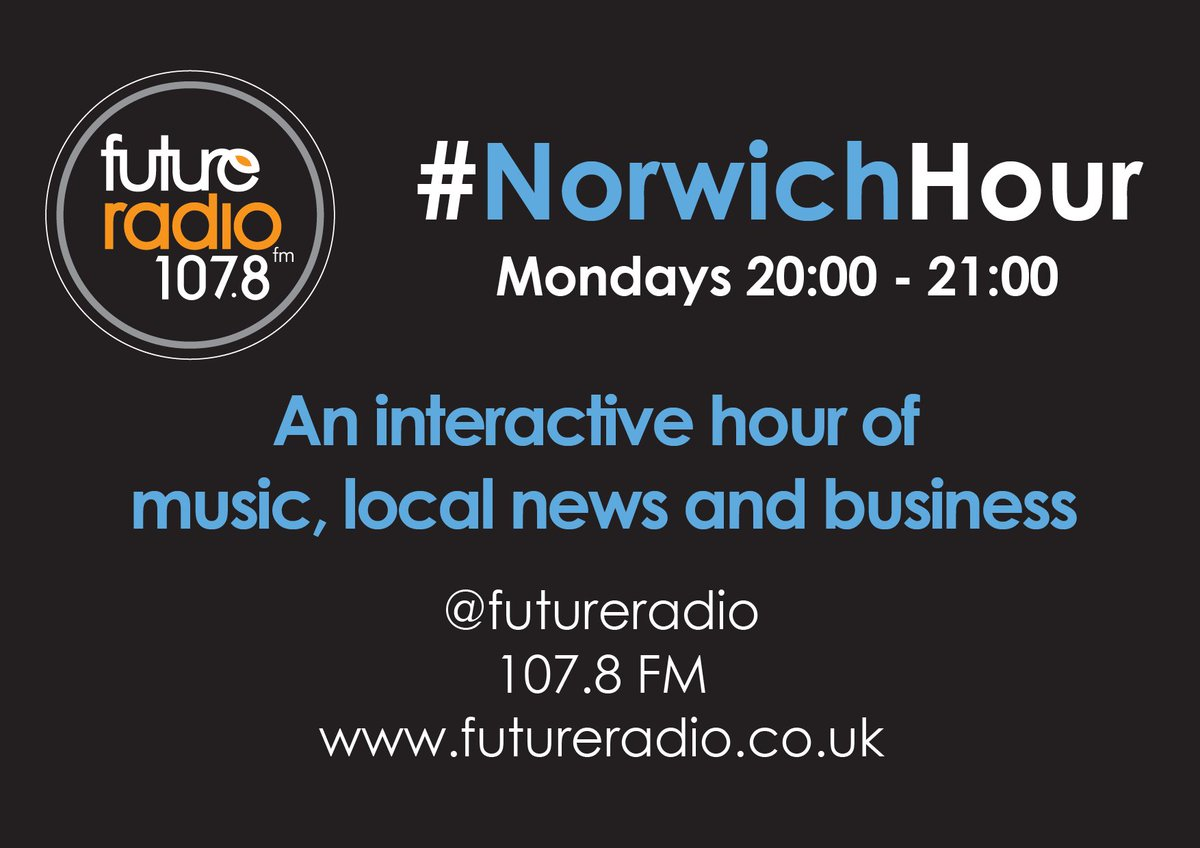 Join us tonight #NorwichHour 8-9 pm local business news / music / chat / interaction #Norfolk https://t.co/vLQda9uq0o