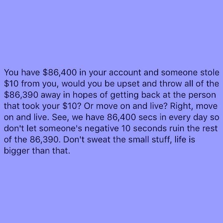 Don't sweat the small stuff https://t.co/ce3UtTJjEW