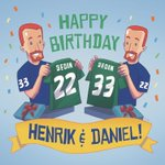 Two remarkable guys, one great day! Happy 36th birthday to the Sedins! 🎉🎉 https://t.co/eaNK1wznJD
