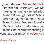 Miriam Meckel zeigt in Experiment die Beeinflussbarkeit der Trendthemen bei Twitter. https://t.co/SyMet0mWN7 https://t.co/iL8eDXQ6ec