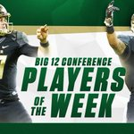 For the 9th-time in program history, the Bears have 2 #Big12FB Players of the Week. READ:  https://t.co/ZCTpaE9RT8 https://t.co/m5uAOzS8EX