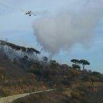 Imatge dun Avió de Vigilància i Atac #maer fent una descàrrega a #IFEsplugues #bomberscat https://t.co/YumR4bIesU