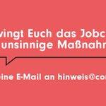 Zwingt Euch das #Jobcenter in unsinnige Maßnahmen? Wir möchten uns gerne mit Dir unterhalten. #Arbeit #ALG2 https://t.co/zZBfzK31Rh