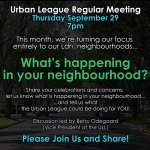 THIS Thursday 7pm at Grosvenor Lodge: The @ULldn Reg. Meeting will focus on #LdnOnt Neighbourhoods (ALL Welcome). Whats happening in yours? https://t.co/Szdsah9Rpt