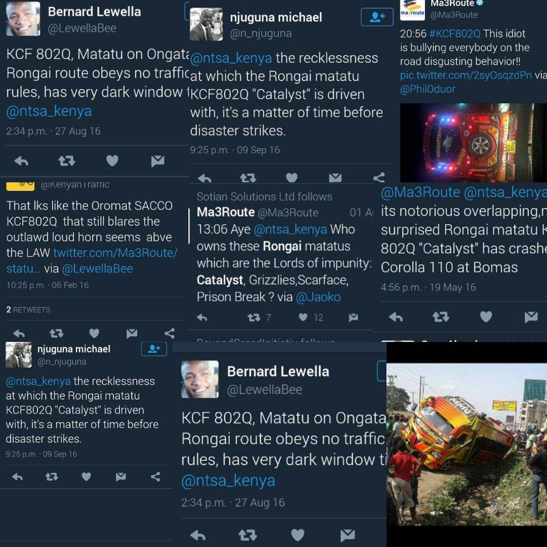 Help @ntsa_kenya predict the next killer matatu.. Kenyans have already spoken out. https://t.co/1ynoEE51v1
