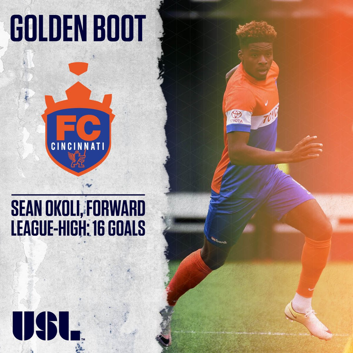 Congrats to @AskAboutUgo for being the 2016 #USL Golden Boot winner with 16 goals on the season! https://t.co/KA8vzWFeCB