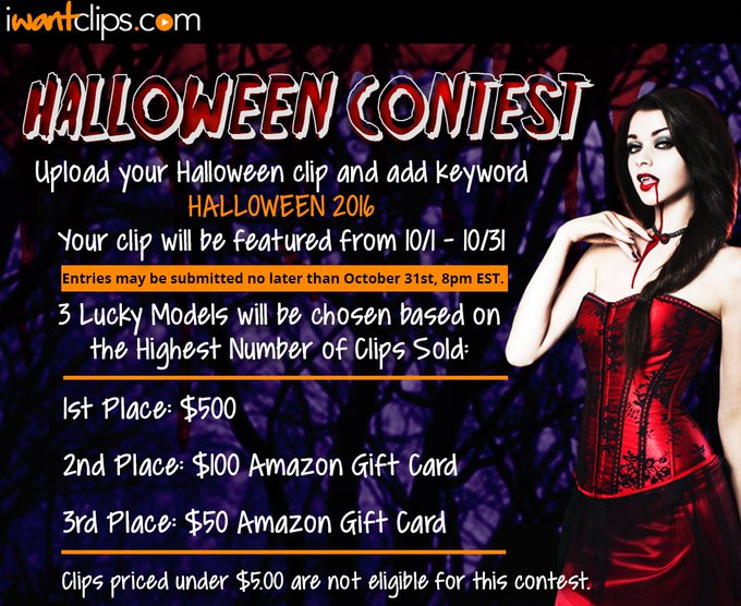 Get your Halloween clips ready. Starting Oct. 1 upload them to get them featured & win big! https://t