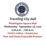 The next Traveling City Hall will be Sept. 28th at Washington Square Mall from 5:30-7pm. This open to the community https://t.co/ftBCrWfZMT