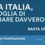 Cara Italia, vuoi cambiare davvero? #bastaunsì https://t.co/EZOeSQMn1y https://t.co/kFhQKb0S70