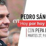 Mañana nuestro SG @PSOE @sanchezcastejon en @HoyPorHoy #YoConPedro #NoMeLoPierdo https://t.co/jsFWsYeuvU