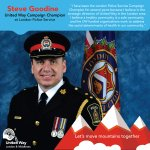 Introducing our next United Way Campaign Champion, Steve Goodine from London Police Service. #LdnOnt #MovingMountains https://t.co/QwW5VmrLCq
