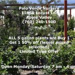 Dont miss our special! #AppleValley #BigBear #HighDesert #gardening #VictorValley https://t.co/oNcId67bhI