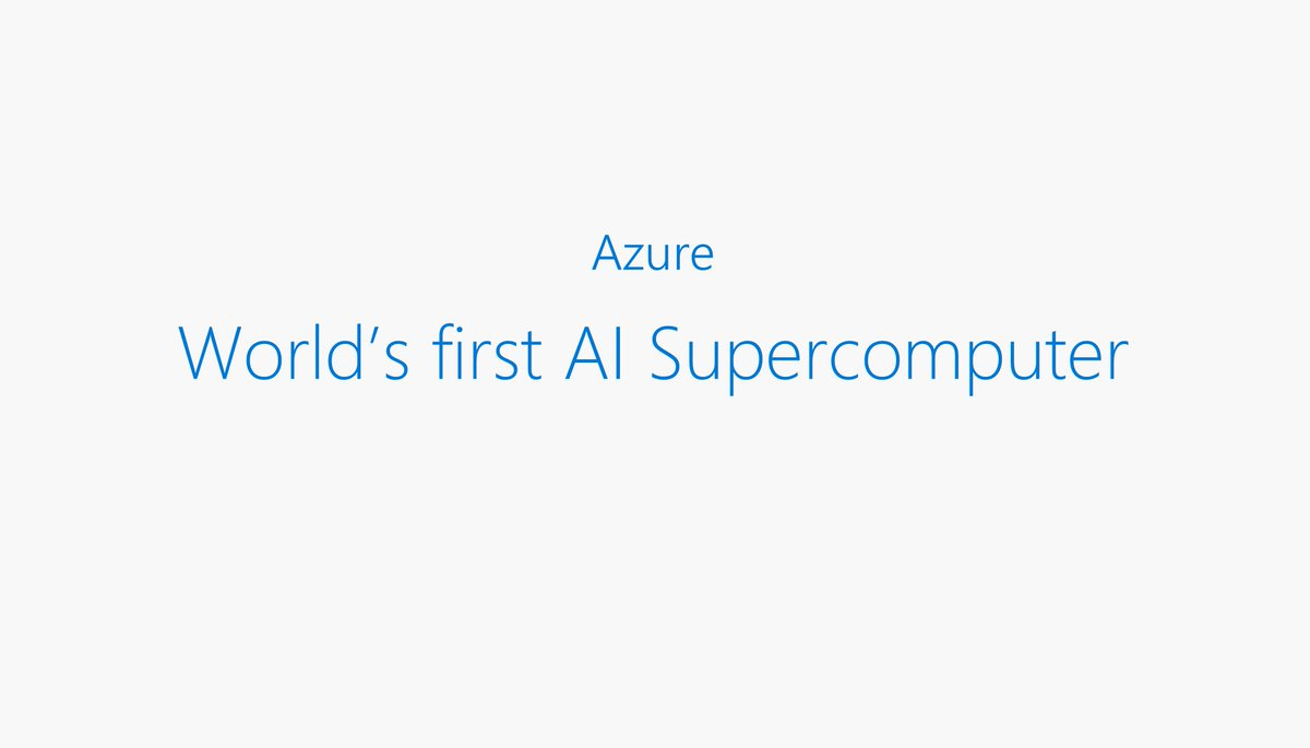welcome, to the world's first #AI supercomputer #MSIgnite https://t.co/R93BndQ7Zh