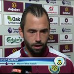 Man of the Match @StevenDefour 2 assists 6 chances created 2 shots 38 passes 10 crosses 60 touches 60 sprints #MNF https://t.co/HxT3X4NmnG