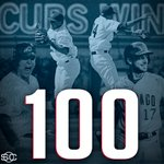 Fly the W!  Cubs win their 100th game of the season for the 1st time since 1935. https://t.co/r6CNTduEea
