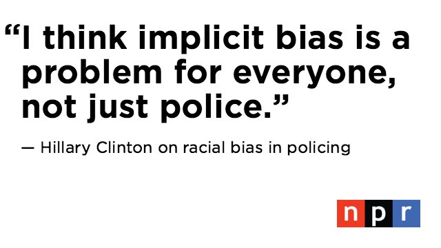 Hillary Clinton, when asked if police are biased against African-Americans at #debatenight https://t.co/sHRsUKTbCQ