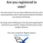 Dear #GWU, Your vote matters. Make sure you are registered to vote: https://t.co/NBN1WXJ3dp https://t.co/kE70Sys9cD