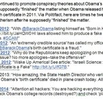"""Trump is lying that """"nobody was pressing"""" birtherism after 2011. https://t.co/bHaiUNNhnt"""