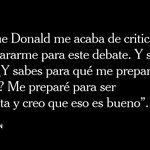Hillary Clinton, sobre su preparación para el debate presidencial. https://t.co/JlhtE6MIZ5