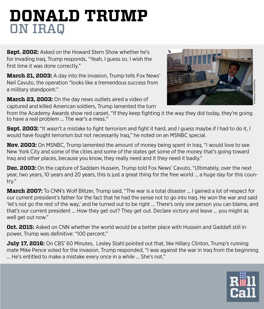 Trump's play-by-play on Iraq war statements: #debatenight https://t.co/q43EgI6B1e