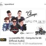 Sigue buscando nuestro nuevo album disponible en el canal de Youtube #KnMusicRD #LaPandillaCerquitaDeMi #TheChange https://t.co/wM2yw5teT3