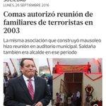 Le pregunto al alcalde de Comas ¿por qué autorizó reunión en 2003 a la misma asociación que construyó mausoleo de terroristas? https://t.co/zQieY1jNMu