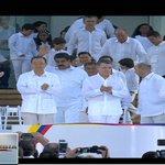 Trece jefes de Estado en la firma de la paz, entre ellos PPK. Acto histórico para Colombia y la región. https://t.co/w2a8c7ohFw