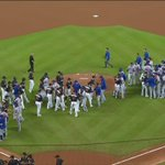 Mets and Marlins players hug it out pregame. Very tough to watch. https://t.co/Oz7b0kWHqS