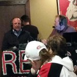 Coach Motzko talking @SCSUHUSKIES_MH on @rev967 with the new voice of the Huskies Jim Erickson. https://t.co/QFB3GiHvic