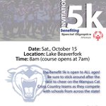 Spread the word! Wampus Cat Invitational 5k for Special Olympics is 10/15/16! Register at https://t.co/lxxb2OGJUg @ConwayAthletics https://t.co/H5iFxsYj8h