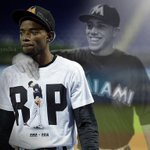 Somewhere Jose Fernandez is smiling down on Dee Gordon. #JDF16 #JoseDay https://t.co/XPdockeE7R