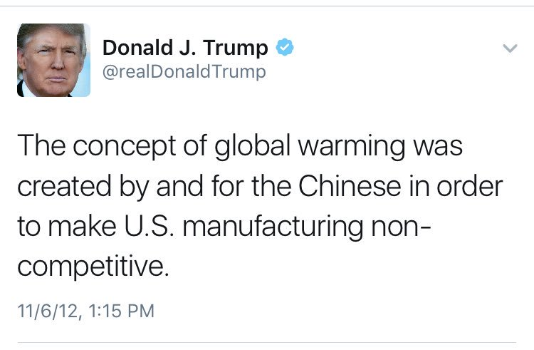 """I've never said climate change was a hoax"" -Trump; just now #debates https://t.co/ky7UnPJxGO"